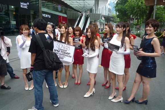 インドネシアから来たファンに遭遇 SDN48
