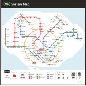 シンガポールMRT新路線図